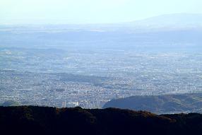 比叡山から見た京都市