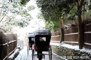雪の嵐山<人力車編>
