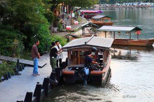 嵐山 鵜飼船